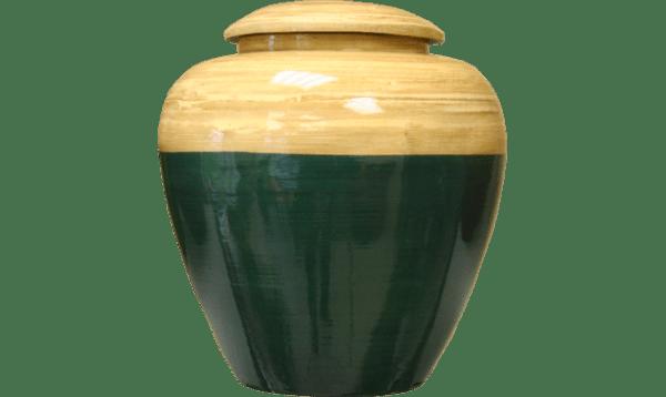 URNE BAMBOU - BEIGE:BLEUE