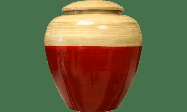 URNE BAMBOU - BEIGE:ROUGE